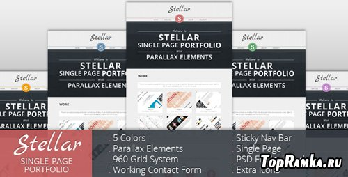 ThemeForest - Stellar - Single Page Portfolio with Parallax - Rip