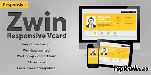 ThemeForest - Zwin - Responsive Vcard Template - RiP