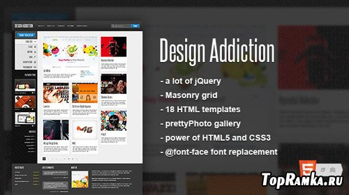 MojoThemes - Design Addiction - Fluid HTML template - RiP