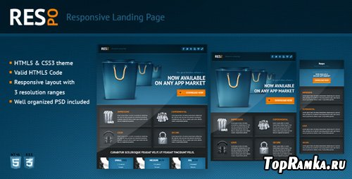 ThemeForest - Respo - Responsive Landing Page - RiP