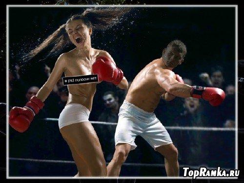 Шаблон для фотошопа - Бокс без правил