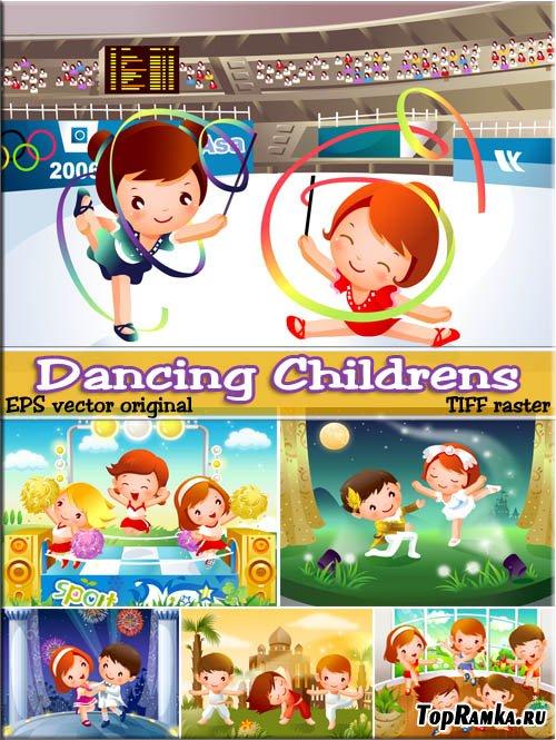 Рисованные танцы ребята которые любят - аниме (EPS vector)