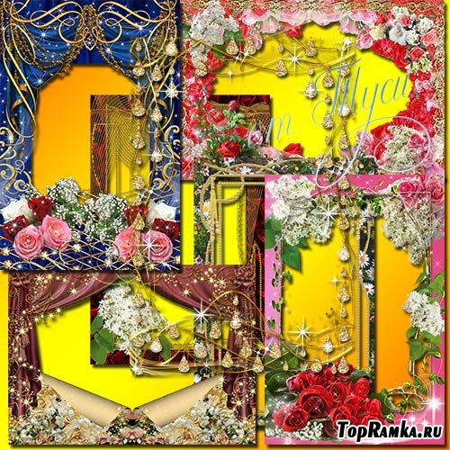 Коллекция рамок – Цветы нам дарят настроение - 4
