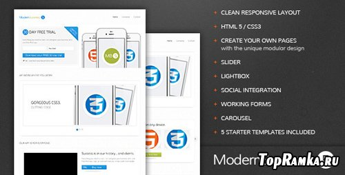 ThemeForest - Modern Business 5 - Responsive Landing Page - RiP
