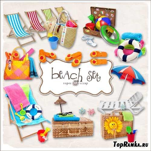 Пляжный скрап-набор - Пляжный инвентарь. Scrap - Beach Object