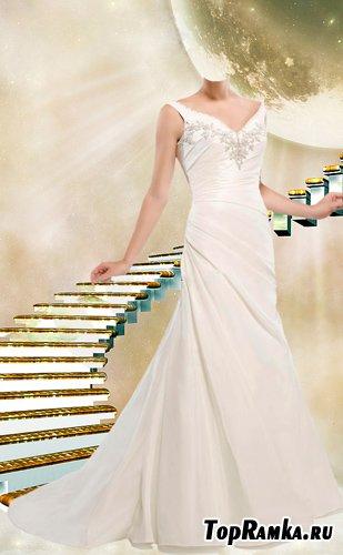 Шаблоны для фотошопа  В свадебном белом платье