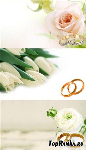 Коллекция многослойных PSD в виде свадебных пригласительных карточек