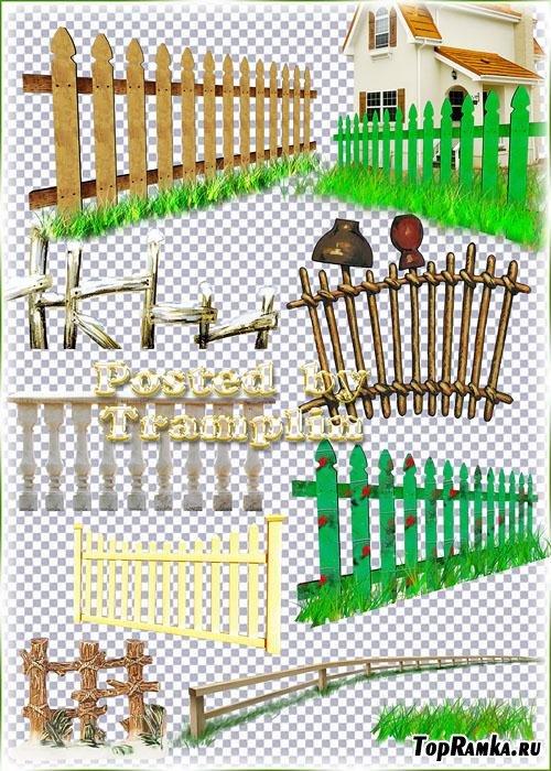 Клипарт на прозрачном фоне – Забор, изгородь, плетень