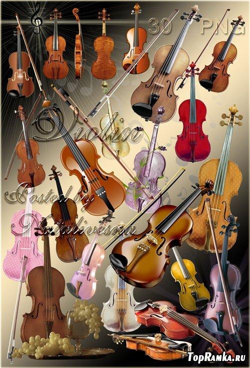 Музыкальный клипарт – Скрипка – Музыка души моей...