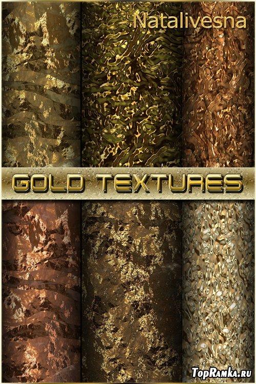 Золотые текстуры для Photoshop / Gold textures for Photoshop