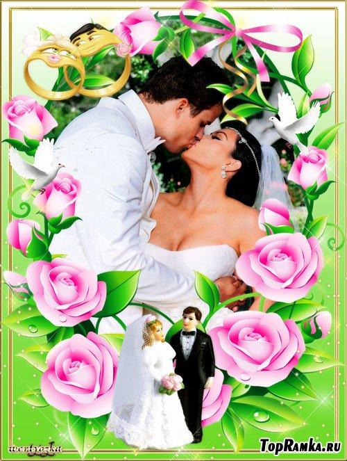 Свадебная рамка для фото - Две судьбы в одну соединенные