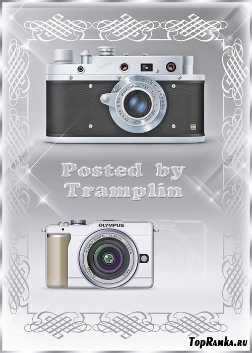 2 Psd Исходника фотоаппаратов компаний  Olympus и Зоркий