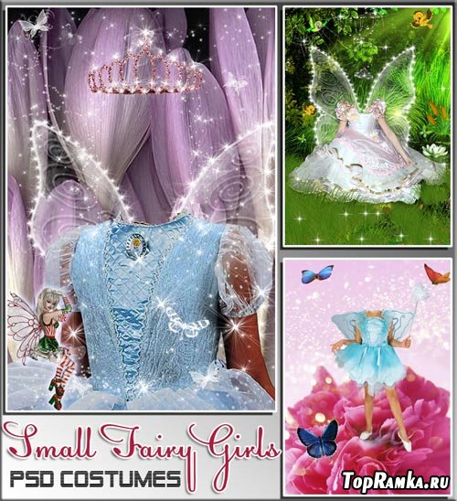 Сказочные Наряды для девочек фей (psd costumes)