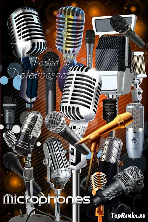 Клипарт в PNG  – Музыкальный  микрофон...