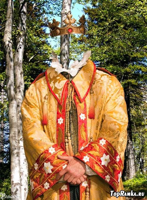 Шаблон для фотомонтажа - король - отец Белоснежки