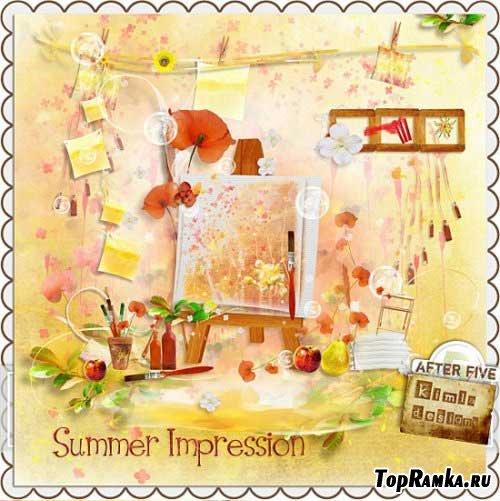 Солнечный летний скрап - Летнее впечатление. Scrap - Summer Impression