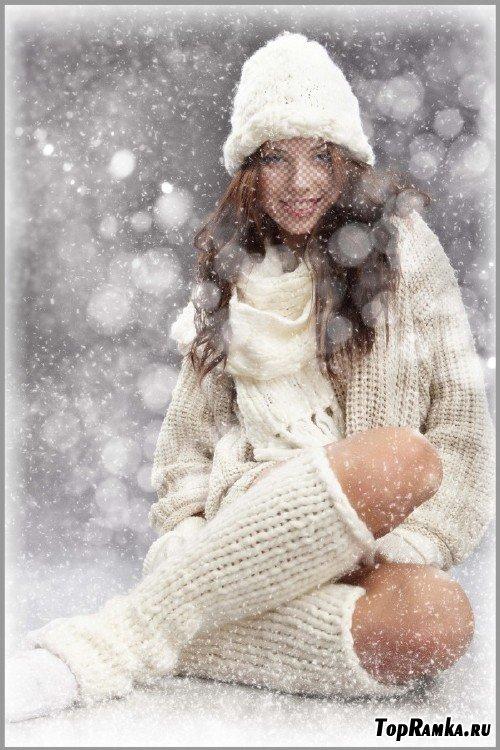 Шаблон для фотомонтажа - Зимняя вьюга