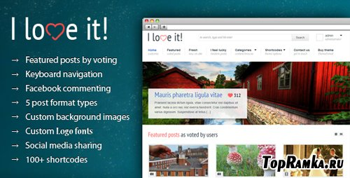 ThemeForest - I Love It! - Content Sharing WordPress Theme - Version 0.9 - UPDATED