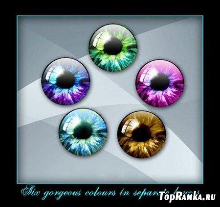 Пять видов радужек глаз в PSD
