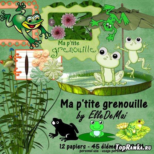 Скрап-набор - Мой маленький лягушонок (Ma petite grenouille)