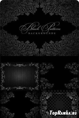 Узоры на черных фонах
