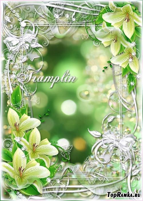 Весенняя рамка с цветами – Цветы, словно звезды, Небесною кистью