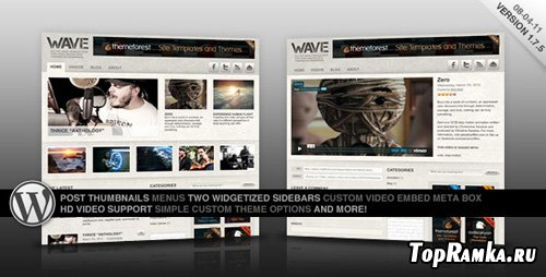 ThemeForest - Wave: A Video Centric Theme for WordPress - Retail l (reuploaded)
