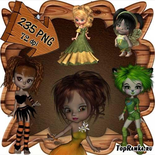Скрап-набор - Мир фей и волшебства 9. Scrap - World of fairies and magics 9