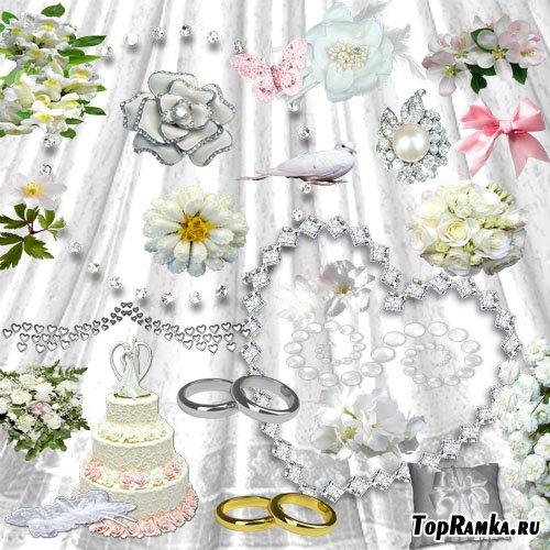 Скрап-набор - Свадебное очарование