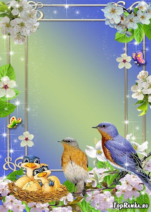 Рамка с природой - Весна пришла