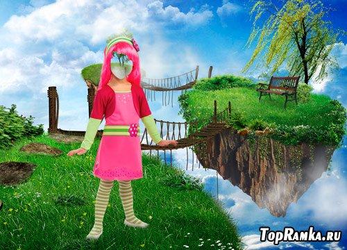 Шаблон для фотошопа – Девочка в сказке