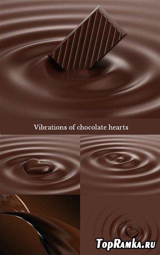 Вибрации шоколадного сердца - фоны