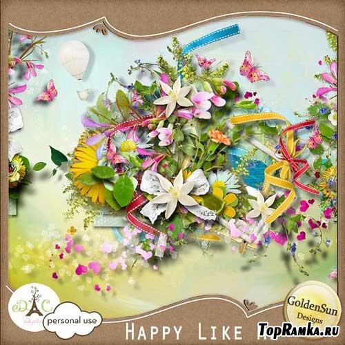 Цветочный скрап-набор - Счастливый, как я. Scrap - Happy like me
