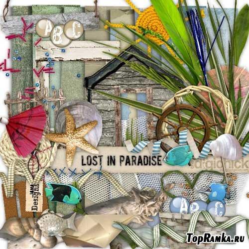 Морской скрап-набор - Тянет в рай. Scrap - Lost In Paradise