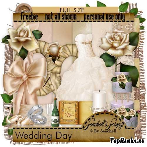 Свадебный скрап-набор - День свадьбы. Scrap - Wedding day