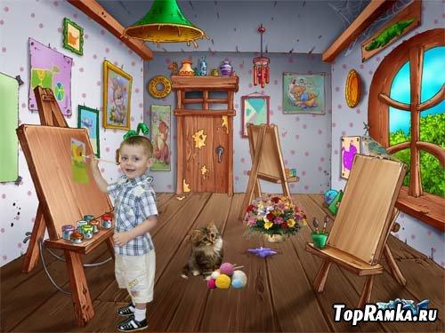 Шаблон детский Маленький художник