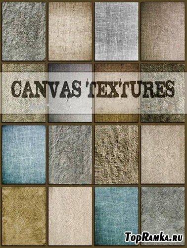 Коллекция холстовых текстур различных цветов