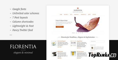 ThemeForest - Florentia - Elegant & Minimal theme v1.1.2 for WordPress (reupload)