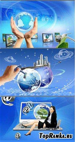 Интернет - ключ к Миру (многослойные PSD)