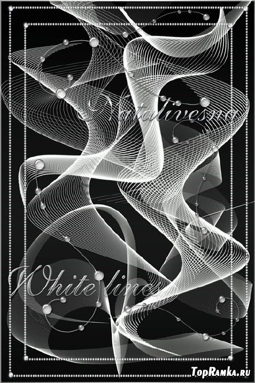 Клипарт для дизайна – Белые линии / White lines