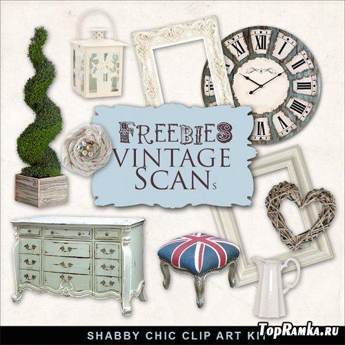 Scrap-kit - Shabby Chic Clip Art