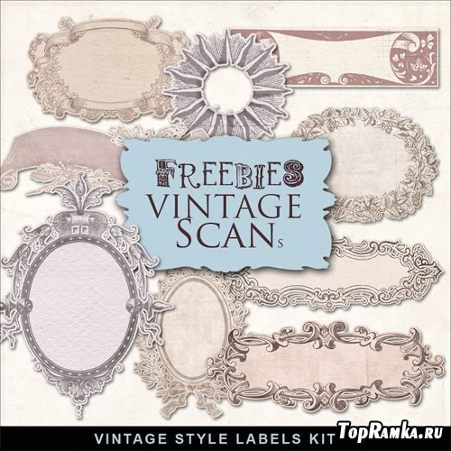 Scrap-kit - Vintage Labels #2