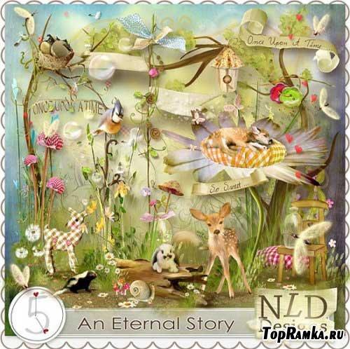Сказочный лесной скрап набор - Вечная история. Scrap - An Eternal Story