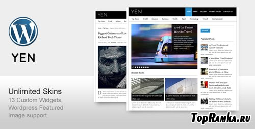 ThemeForest - YEN - Magazine, News and Blog Wordpress Template (Reuploaded)