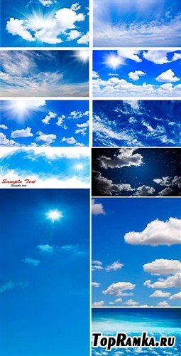 Небо и солнце в облаках - фоны HQ
