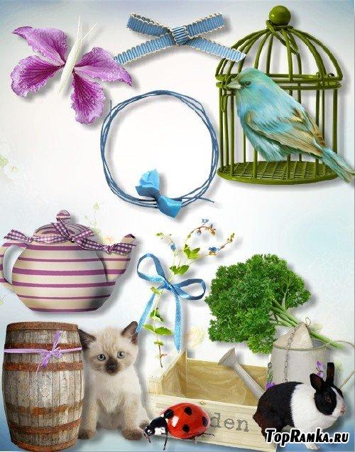 Скрап-набор - Чаепитие в весеннем саду
