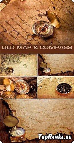 Компасы и старинные рукописи - фоны
