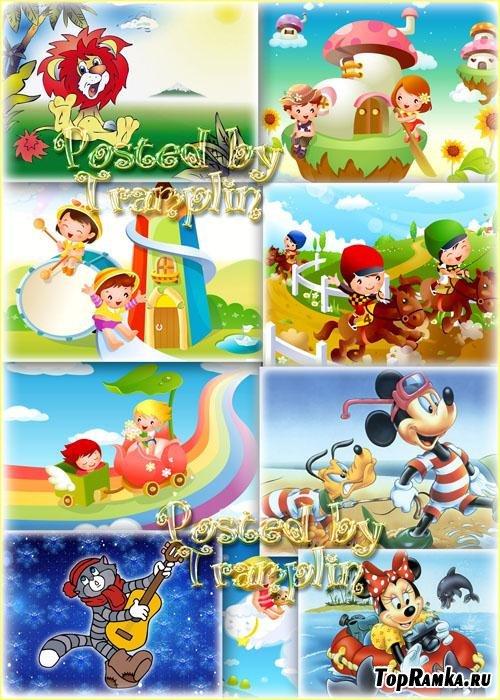 Детские фоны – Мультфильмы и Шальная детвора