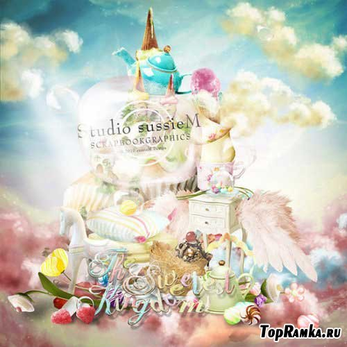 Праздничный детский скрап - Сладкое королевство. Scrap - The Sweetest Kingdom
