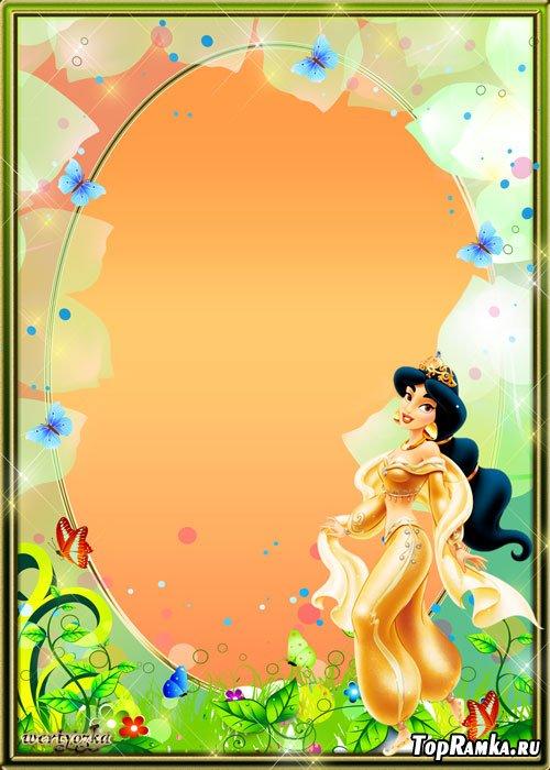 Детская рамка для фото - Очаровательная сказка с принцессой Жасмин